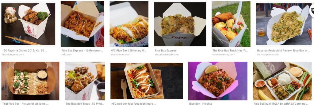 the rice box dishes