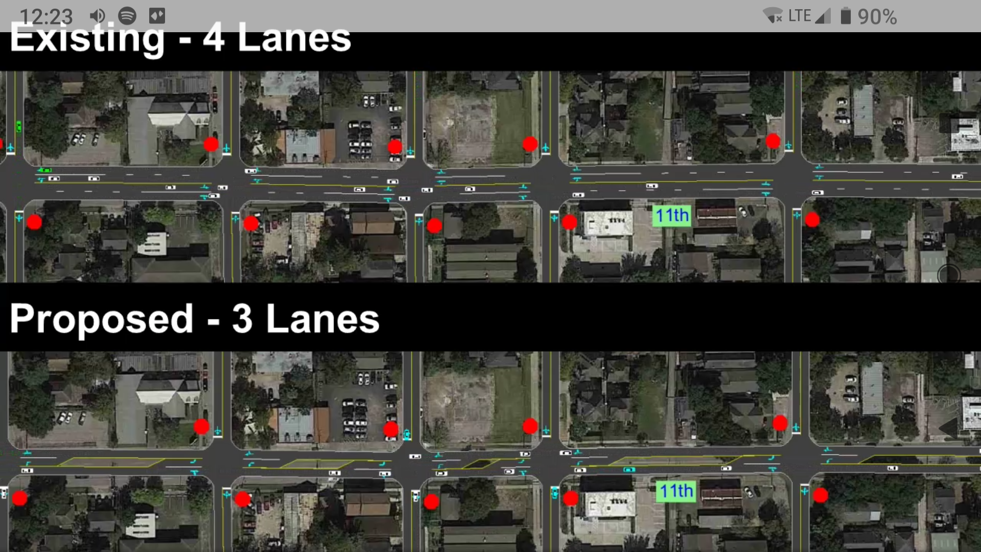 Bike lane changes in the Houston heights