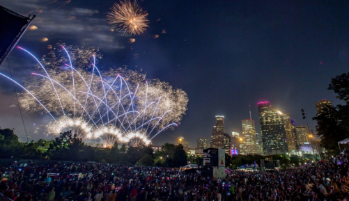 Challenge: Who has a better view of the 4th of July Fireworks then this?