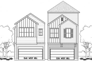 1240 Street BELL Houston Texas 77019 for only  $619900 with 2.1 baths / 3 bedrooms - Single-Family