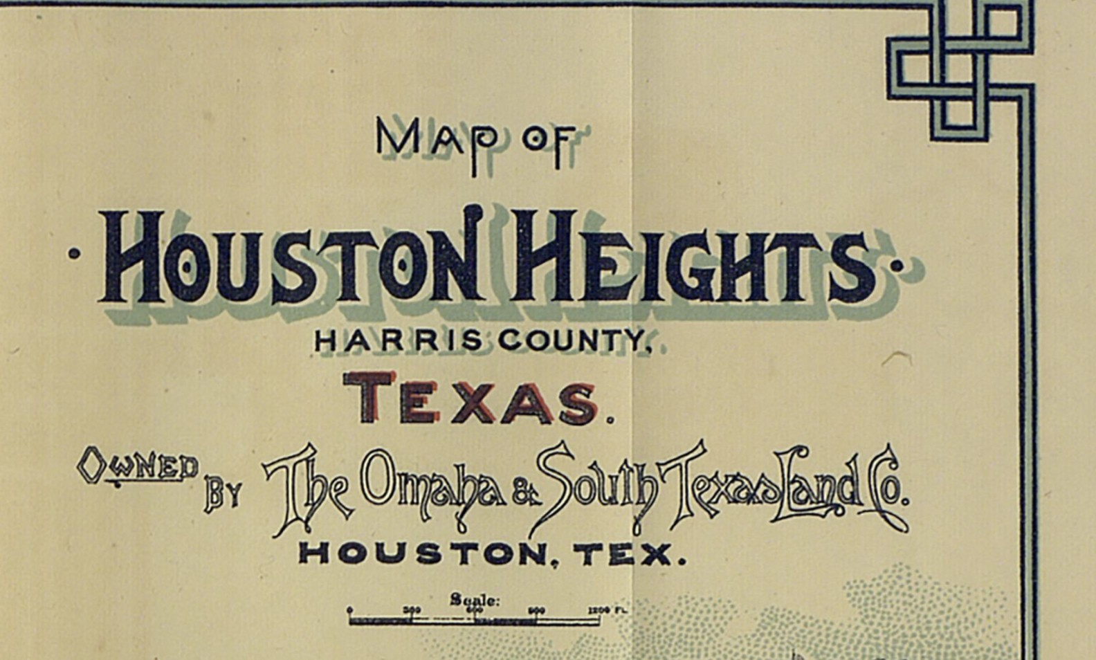 Mapping Houston Heights