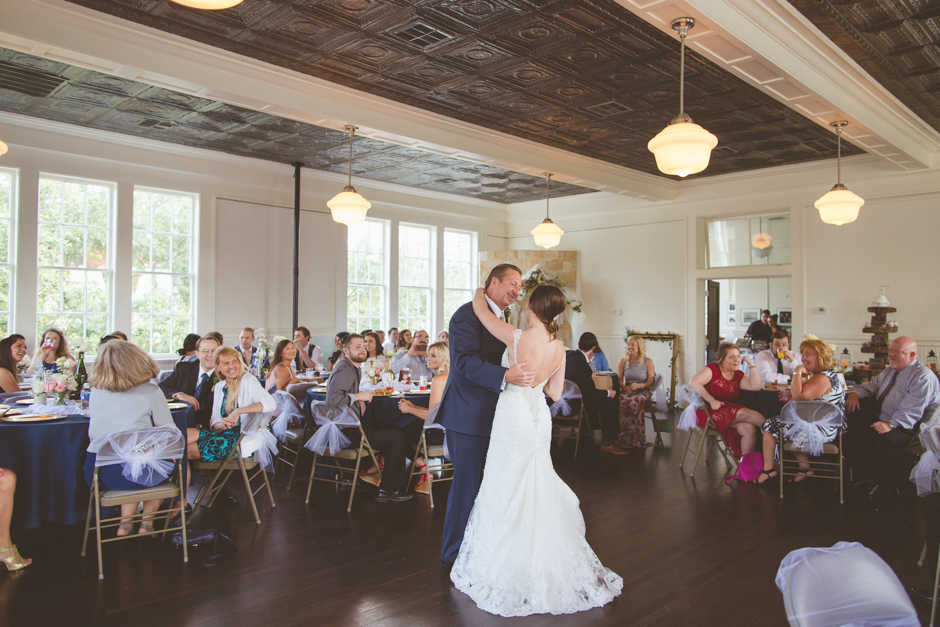 Historic fire station wedding deco